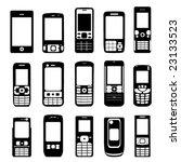 set of mobile phone vector   Shutterstock .eps vector #23133523