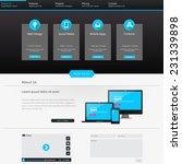 modern website template design...