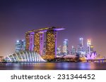 Singapore Night City With...