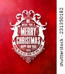 christmas typographic and... | Shutterstock .eps vector #231350182
