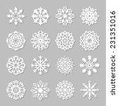 Paper Snowflakes Set. Vector...