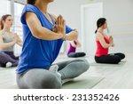 group of women doing yoga... | Shutterstock . vector #231352426