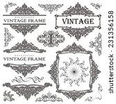vintage frame set isolated on... | Shutterstock .eps vector #231356158