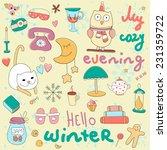 hello winter illustration.... | Shutterstock .eps vector #231359722