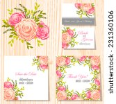 wedding invitation cards with... | Shutterstock .eps vector #231360106