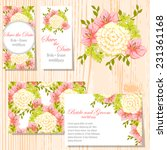wedding invitation cards with... | Shutterstock .eps vector #231361168