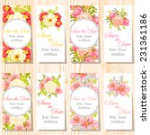 wedding invitation cards with... | Shutterstock .eps vector #231361186