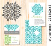 set of invitations with... | Shutterstock .eps vector #231362665