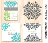 set of invitations with... | Shutterstock .eps vector #231362722