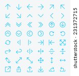 line arrow icon set   vector