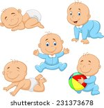 collection of cartoon baby boy | Shutterstock . vector #231373678