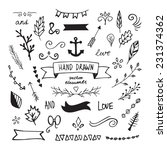 hand drawn vector design... | Shutterstock .eps vector #231374362