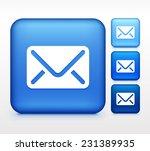 email envelope on blue square...   Shutterstock .eps vector #231389935