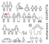 set of family icons and sign... | Shutterstock . vector #231395776