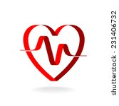 heart with pulse ribbon logo... | Shutterstock .eps vector #231406732