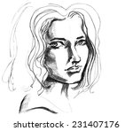 hand drawn pencil sketch with... | Shutterstock .eps vector #231407176