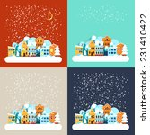 card with city winter landscape ... | Shutterstock .eps vector #231410422
