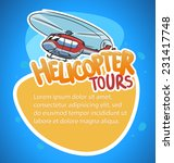 helicopter tour banner | Shutterstock .eps vector #231417748