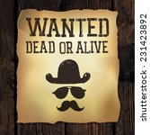 "old ""wanted..."" poster  vector... 