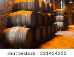 cellar with row of traditional  ... | Shutterstock . vector #231424252