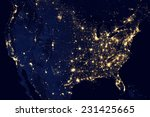 City lights of usa elements of...