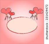 valentine card design pink... | Shutterstock .eps vector #231429472