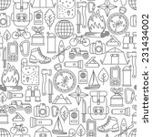 seamless pattern with adventure ...   Shutterstock .eps vector #231434002