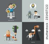 set of flat design concept... | Shutterstock .eps vector #231437122