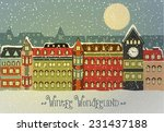 winter cityscape  vector... | Shutterstock .eps vector #231437188