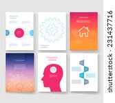 vector brochure design... | Shutterstock .eps vector #231437716