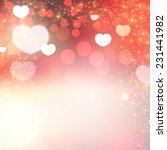 shining heart bokeh background. ... | Shutterstock .eps vector #231441982