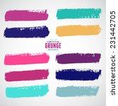 brush strokes   set   isolated... | Shutterstock .eps vector #231442705