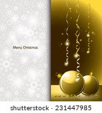 christmas greeting card. | Shutterstock .eps vector #231447985