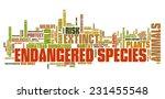 endangered species  ... | Shutterstock . vector #231455548