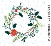 floral or botanical christmas... | Shutterstock .eps vector #231457366