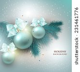 christmas background with gifts ... | Shutterstock .eps vector #231461776