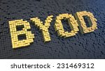 acronym 'byod' of the yellow... | Shutterstock . vector #231469312