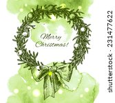 christmas   new year holidays... | Shutterstock .eps vector #231477622