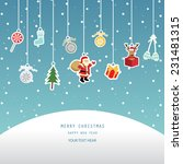 christmas greeting card  red... | Shutterstock .eps vector #231481315