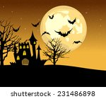 halloween illustration with... | Shutterstock .eps vector #231486898