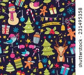 cartoon christmas seamless... | Shutterstock . vector #231495358
