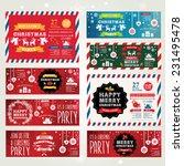 invitations merry christmas.  | Shutterstock .eps vector #231495478