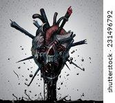 death skull | Shutterstock .eps vector #231496792