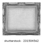 old silver frame with empty... | Shutterstock . vector #231504562