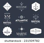 set of retro vintage nautical... | Shutterstock .eps vector #231509782