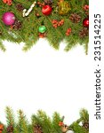 christmas background with balls ... | Shutterstock . vector #231514225