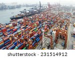 industrial port with containers | Shutterstock . vector #231514912