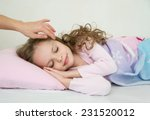adorable little girl sleeping... | Shutterstock . vector #231520012