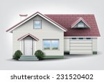 suburban family house with... | Shutterstock .eps vector #231520402