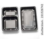 black plastic container on a...   Shutterstock . vector #231528742